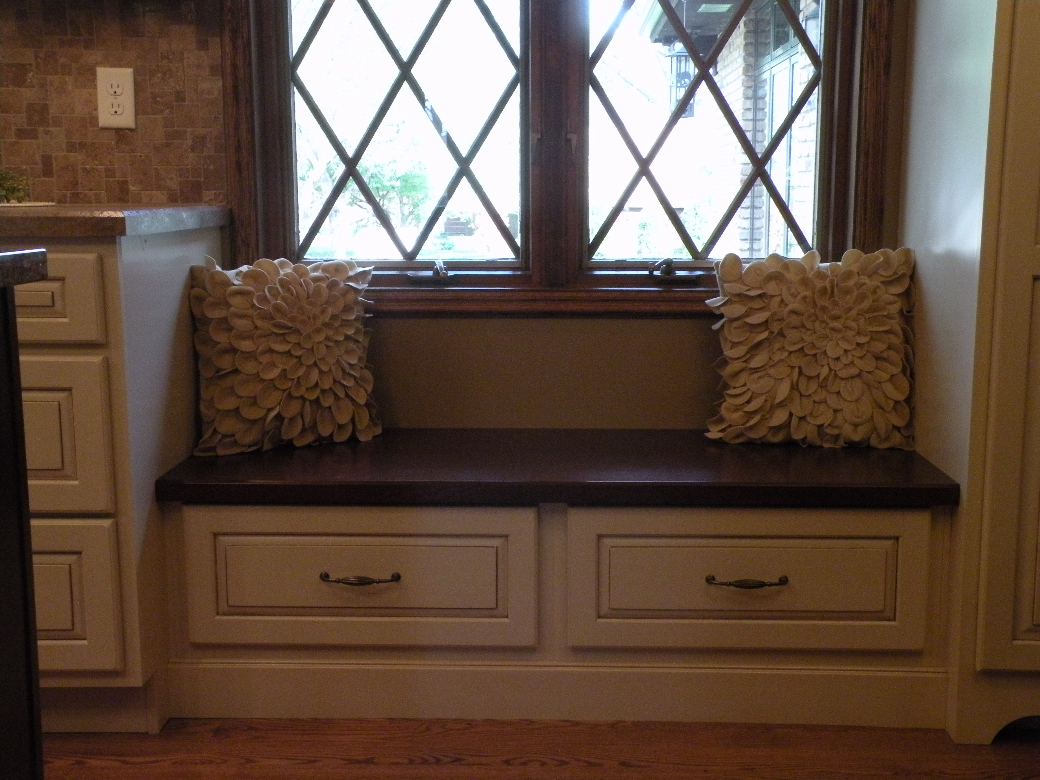 window seat with drawers free standing window seat with drawers kitchens baths by greta